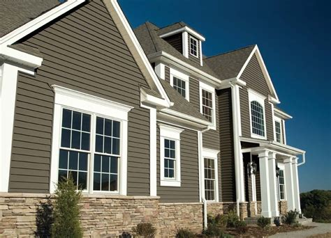 siding houses vinyl siding color combinations sovereign select trilogy house for the home