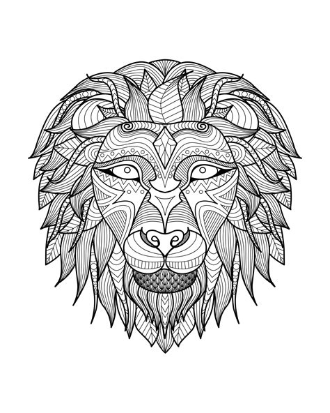 africa lion head 2 africa coloring pages for adults