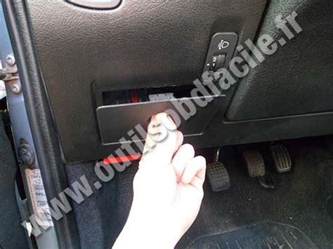obd connector location  citroen saxo   outils obd facile