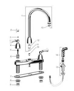 american standard kitchen faucet parts american standard 4175 200 colony single kitchen