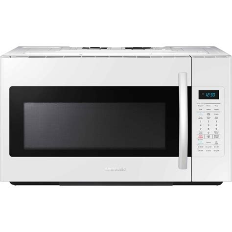 samsung the range microwave samsung me18h704sfw 1 8 cu ft the range microwave w sensor cooking white shop your