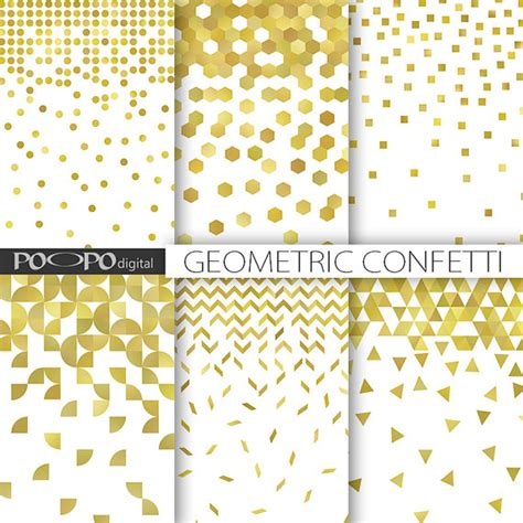 christmas patterns modern gold glitter confetti digital paper christmas confetti modern