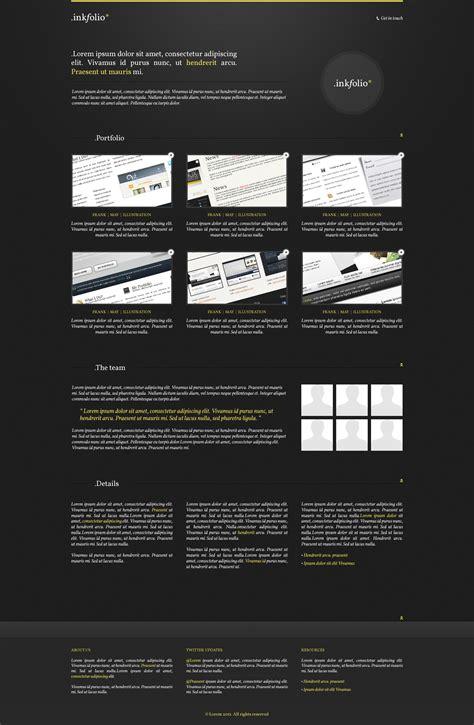 inkfolio professional portfolio template free psd
