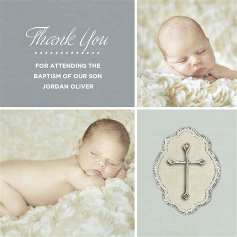 thank you card baptism template powerpoint photo baptism thanks boy template 120071 by roxanne