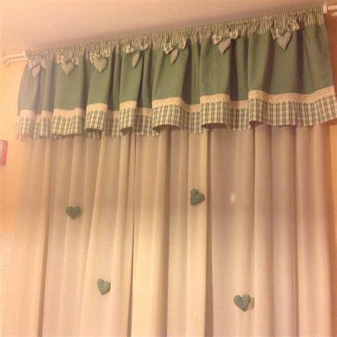 come cucire mantovane per tende tende con mantovana a quadretti verde fiocchi e cuori