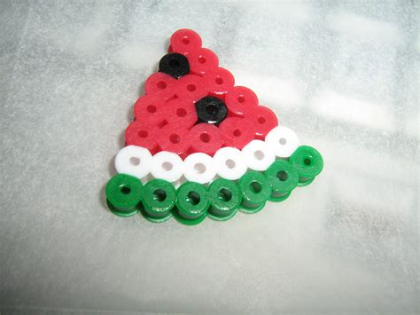 perler watermelon perler craftybaking