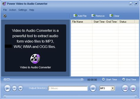 audio converter is a powerful mpeg to mp3 converter which extract audio from video avi wmv asf mpeg mpg to mp3
