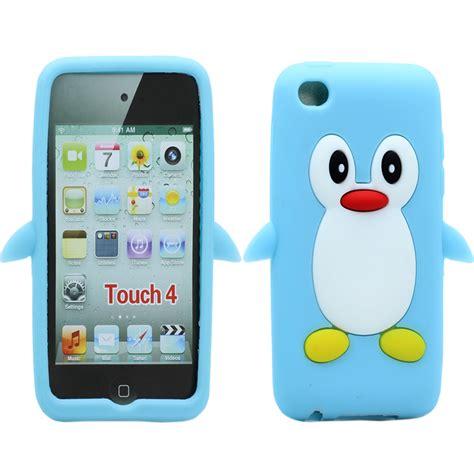 wholesale ipod touch   penguin case sky blue