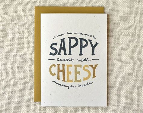 cards cheesy any occasion card cheesy by witandwhistle on etsy 4 00