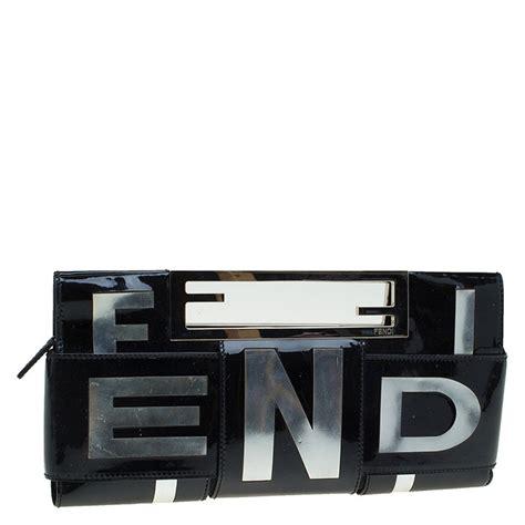 Fendi Fendi Crossword Patent Clutch by 7 Must Fendi Bags