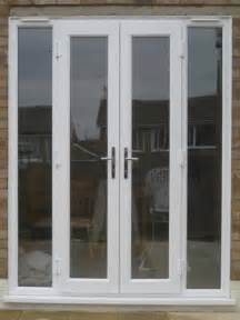 white doors with side panels