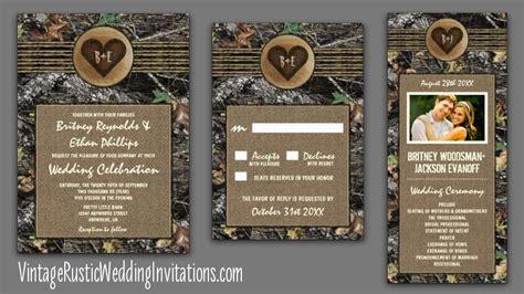 realtree camo wedding invitations camo wedding invitations vintage rustic wedding invitations