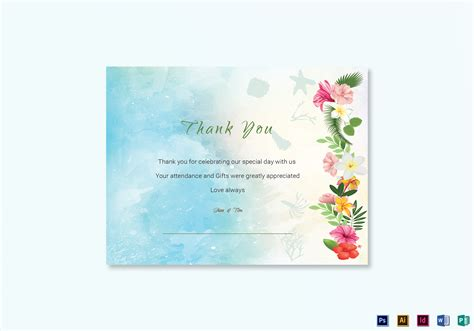 thank you card illustrator template thank you card template in psd word publisher