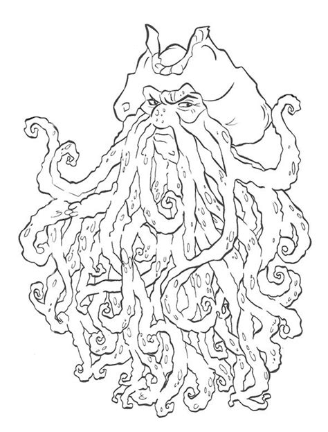 coloring pages disney pirates caribbean davy jones pirates of the caribbean coloring page for kids