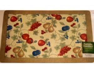 Fruit Kitchen Rugs Apples Pears Grapes Cherries Fruit Kitchen Rug Comfort Mat