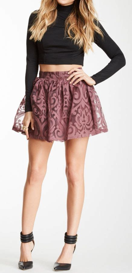 Get Swinging With A Adameve Mini Skirt by Best 25 Turtleneck Crop Top Ideas On