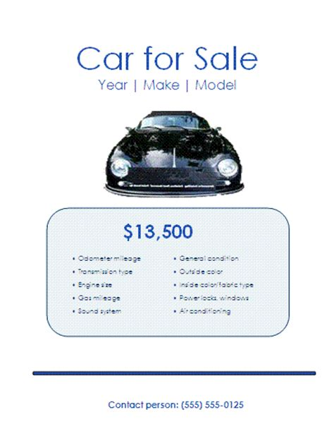 car for sale template free 5 car for sale flyer templates word excel pdf templates