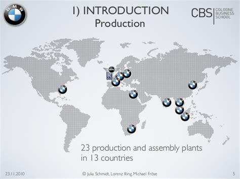 nissan manufacturing plants worldwide bmw market analysis