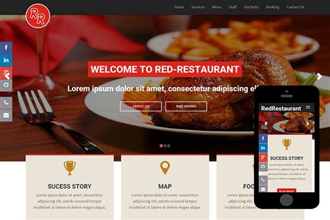 bootstrap themes free restaurant red restaurant free bootstrap themes 365bootstrap