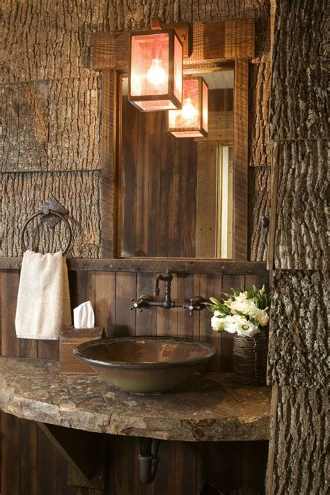 Unusual Pedestal Sinks Make Your House Look Like A Cabin Inside Cabin Decor