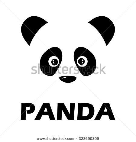 Flat Teplek Polos Black Panda panda stock images royalty free images vectors