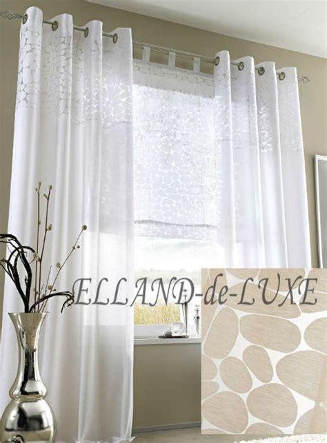 ausbrenner gardinen 1 st gardine vorhang 140 x 175 sand beige halbrtasnparent