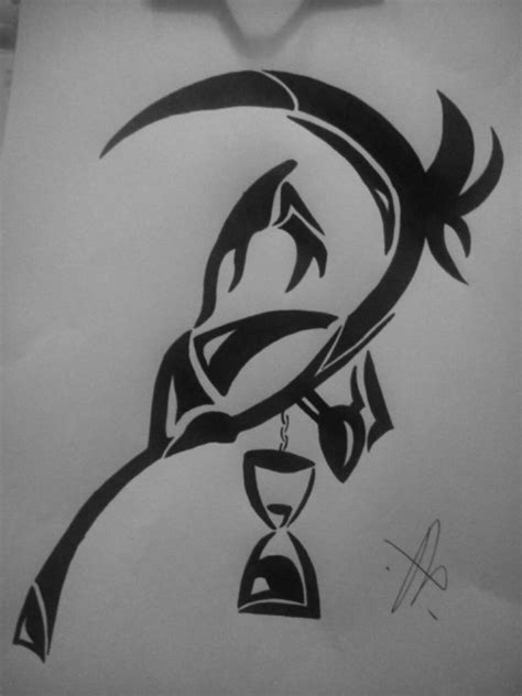 tribal reaper tattoo tribal grim reaper by londonannie05 on deviantart
