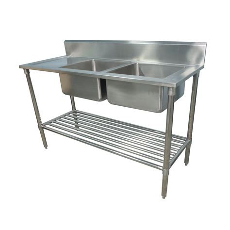 industrial kitchen sink 1300x600mm new commercial double bowl kitchen sink 304
