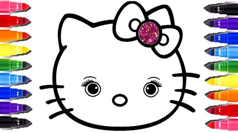 Hello Kitty Coloring Pages Youtube | hello kitty coloring pages how to draw hello kitty