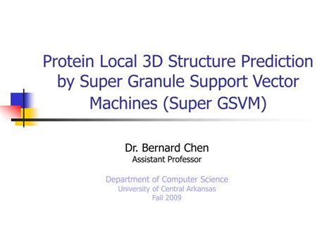 protein 3d structure prediction ppt protein local 3d structure prediction by
