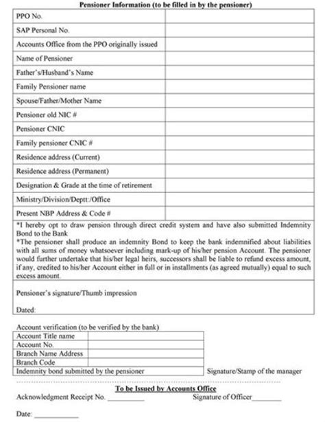 Pension Credit Application Form Address Pension Through Bank Account For Sindh Govt Pensioners Galaxy World