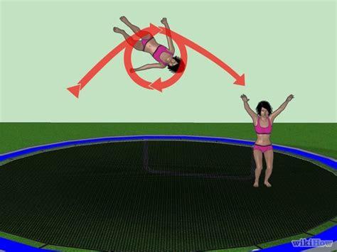 how to do a backflip on a swing how to do a 180 backflip on a troline 10 steps
