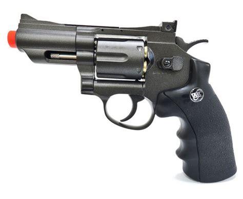 wingun 708 snub nose black fps 480 co2 airsoft revolver