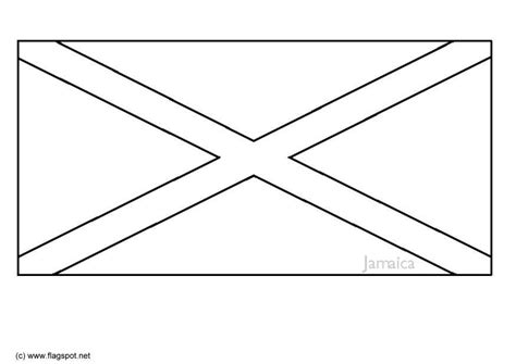 coloring page flag jamaica img 6332