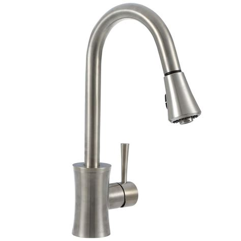 kitchen faucet brushed nickel pegasus luca single handle pull sprayer kitchen