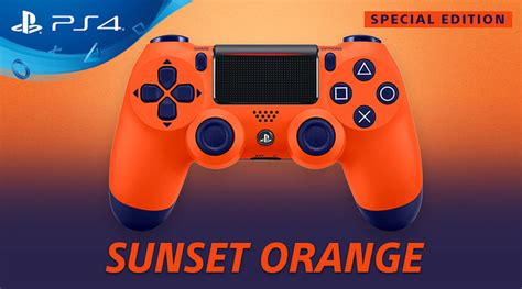 ps4 controller orange light vibrant two toned ps4 sunset orange dualshock 4 controller