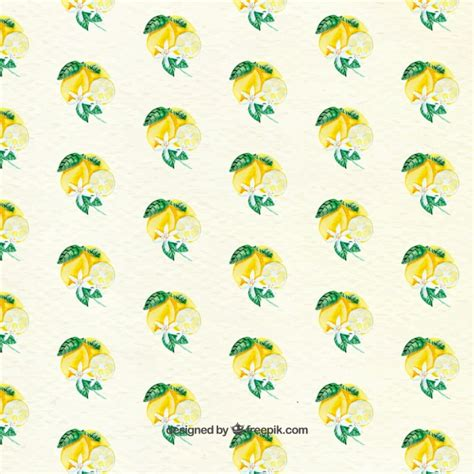 cute lemon pattern cute pattern of lemons and decorative flowers vector