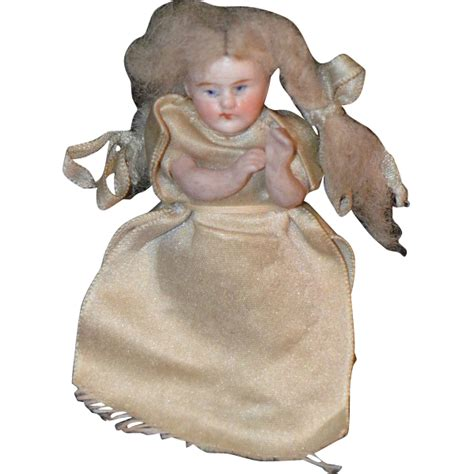clean bisque doll antique doll bisque miniature dollhouse all bisque from