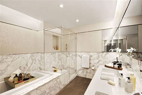 new york apartment bathrooms luxurious apartment building in nyc marries industrial