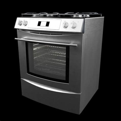 kitchen appliance electric stove 3d model cgtrader com silver electric stove 3d model cgtrader com
