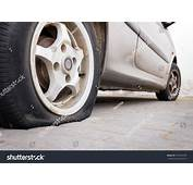 Parked Car Deflated Tire Stock Photo 503984590  Shutterstock