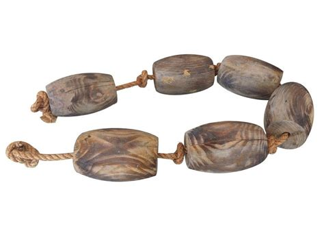 boat rope float wooden weathered floats with rope 50 quot
