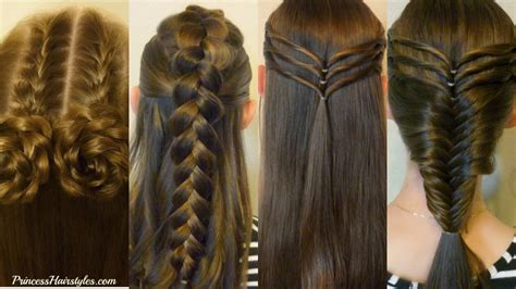Easy Hairstyles For School Dances by 4 Easy Hairstyles For School And Heatless Part 3