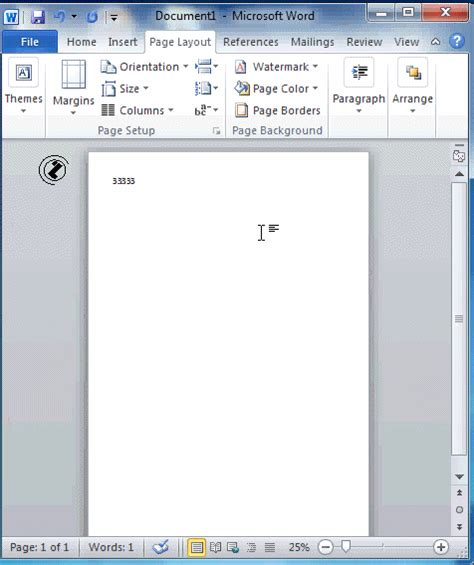 word layout size word2010 page setup size