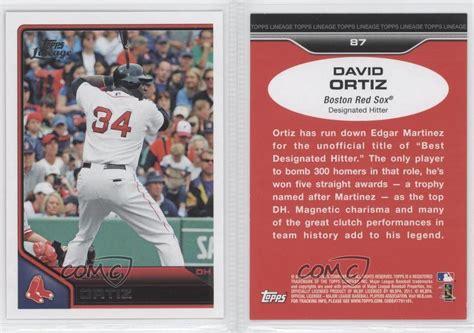 back of topps 87 baseball card template 2011 topps lineage 87 david ortiz boston sox baseball