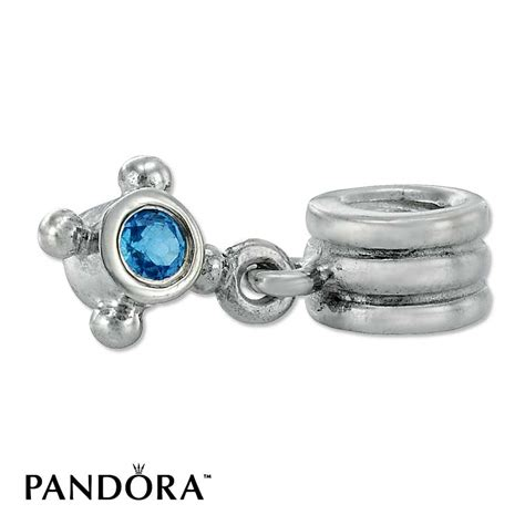 jared pandora compass blue topaz retired dangle charm
