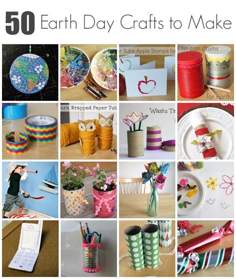 for kindergarteners to make 50 earth day crafts to make with make and takes