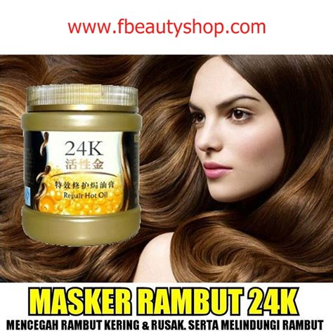 masker rambut 24k active gold hair mask