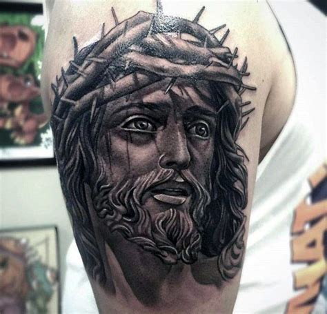 jesus face tattoos 100 jesus tattoos for cool savior ink design ideas