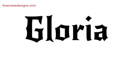 tattoo name gloria gloria archives free name designs